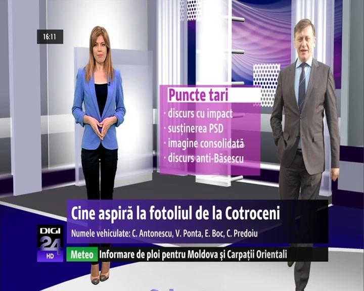 VIDEO   Cine aspiră la fotoliul de la Cotroceni. Nume vehiculate: C. Antonescu, V. Ponta, E. Boc, C. Predoiu