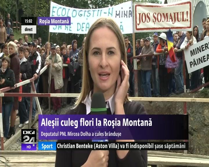 VIDEO | Parlamentar, la Roşia Montană: Am cules brânduşe, vom avea o toamnă lungă