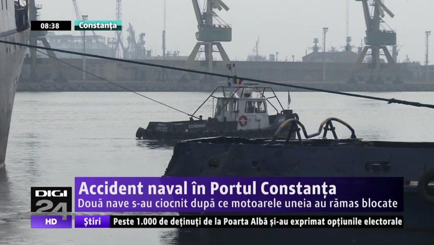 VIDEO | Accident naval în Portul Constanţa