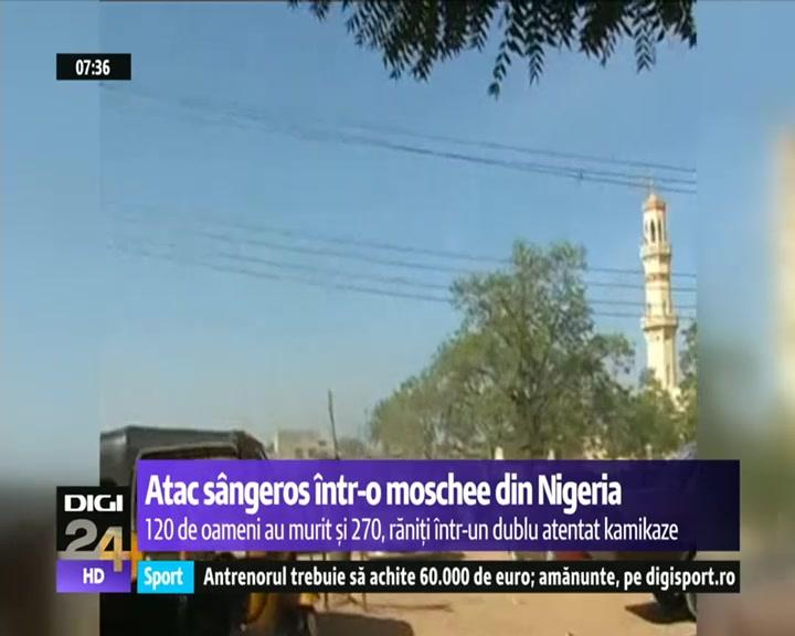 VIDEO   Dublu-atentat kamikaze într-o moschee din Nigeria: 120 de oameni au murit